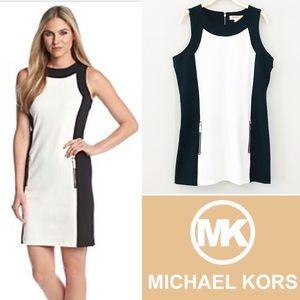 Michael Kors Sleeveless Colorblock Mini Dress